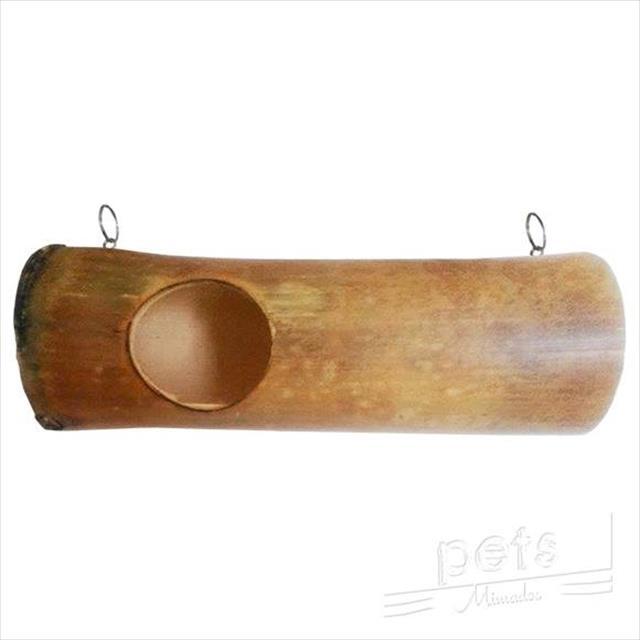 toca em bambu para chinchilas e roedores médios e pequenos