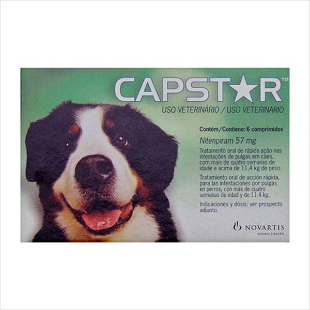 anti pulgas novartis capstar de 57 mg com 6 comprimidos para cães - 11 a 57 kg