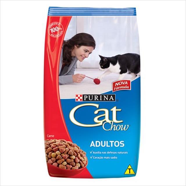 ração nestlé purina cat chow adultos - carne ração nestlé purina cat chow adultos carne - 3kg