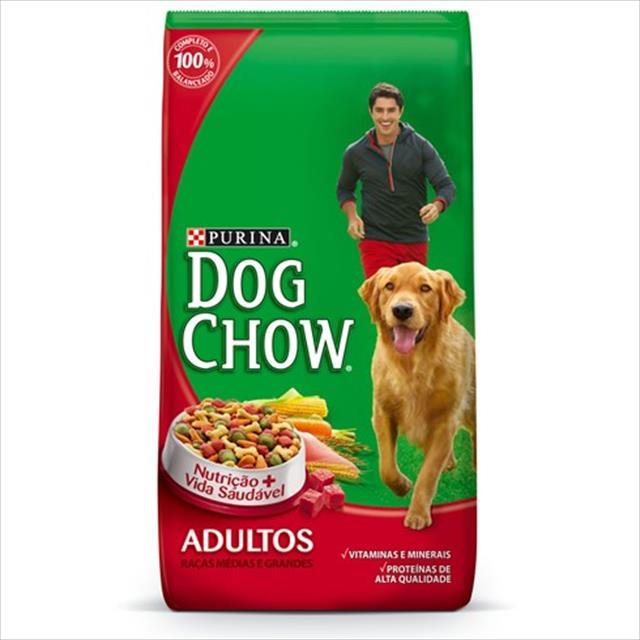 ração nestlé purina dog chow adultos raças médias e grandes carne e vegetais - 3kg