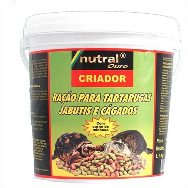 ra��o nutral ouro para tartaruga, jabuti ou c�gado - 1,3kg