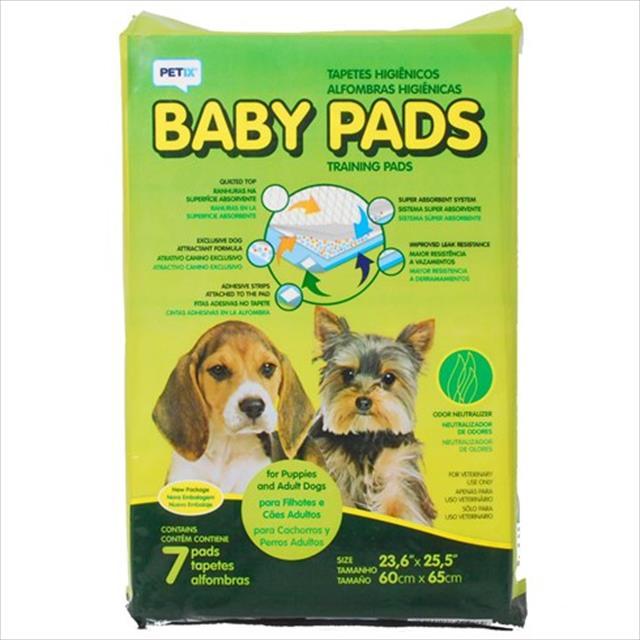 tapete higiênico baby pads - petix tapete higiênico baby pads - 7 unidades