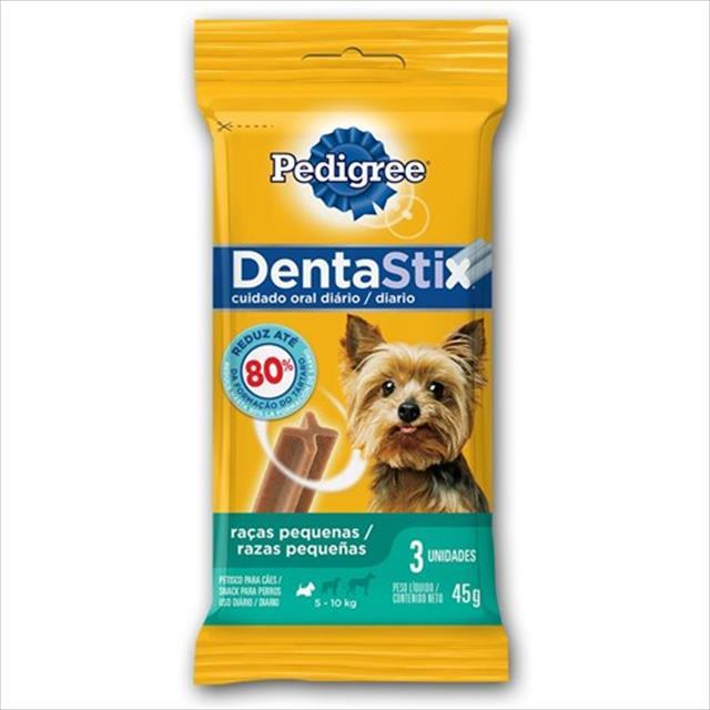 petisco pedigree dentastix para raças pequenas 7 sticks - 110 g
