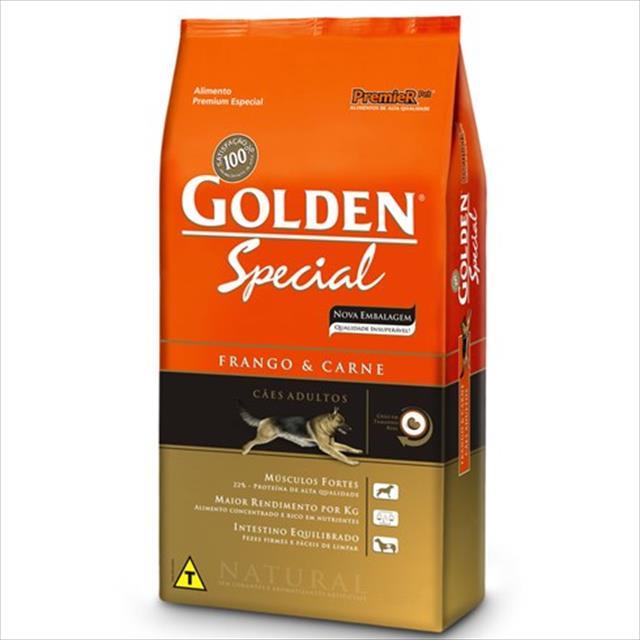 ração premier golden special cães adultos frango e carne - 20kg