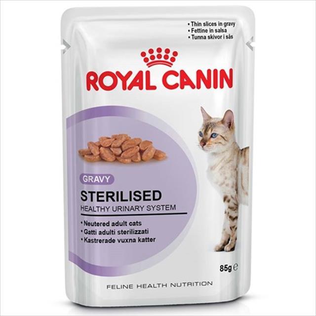 ração royal canin sachê feline sterilised para gatos castrados - 85 g