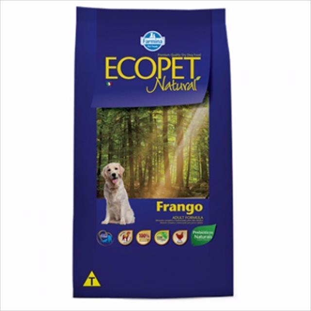 ração ecopet adulto formula 20kg bh