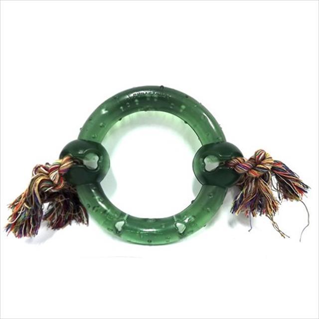 anel maciço pvc flex com corda - verde anel maciço pvc flex com corda verde - tam g