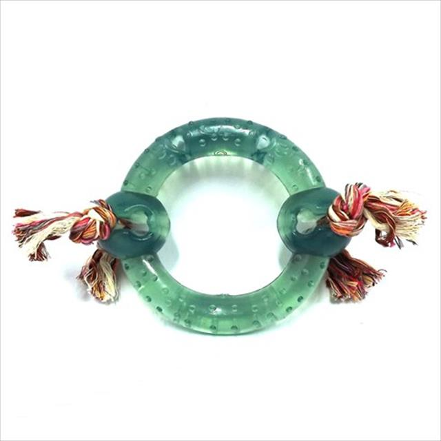 anel maciço pvc flex com corda - verde anel maciço pvc flex com corda verde - tam m