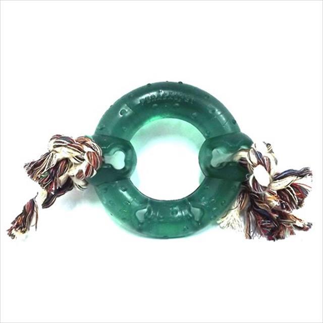 anel maciço pvc flex com corda - verde anel maciço pvc flex com corda verde - tam p