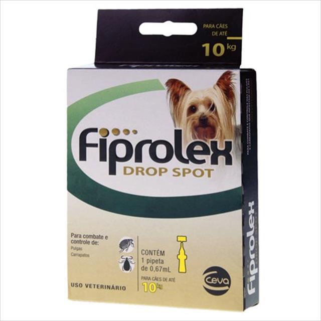 anti pulgas e carrapatos ceva fiprolex drop spot para cães até 10 kg