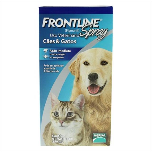 anti pulgas e carrapatos frontline spray para cães e gatos de 250 ml anti pulgas e carrapatos frontline spray para cães e gatos - 250 ml