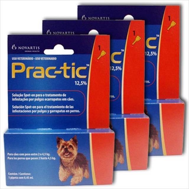 anti pulgas e carrapatos novartis prac-tic para cães anti pulgas e carrapatos novartis prac tic - compre 2 e leve 3 para cães de 2 a 4,5 kg