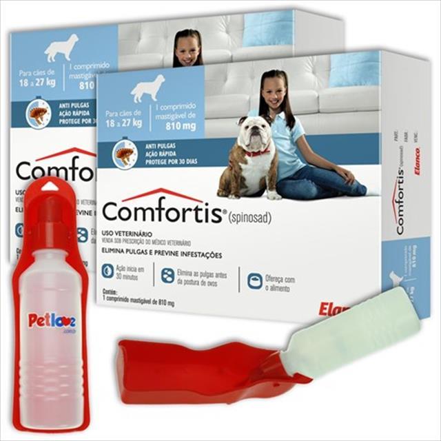 anti pulgas elanco comfortis 810 mg - para cães de 18 a 27 kg anti pulgas elanco comfortis 810 mg para cães de 18 a 27 kg - compre 2 e ganhe bebedouro pet love