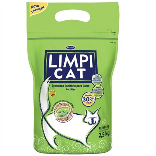 areia sanitária limpi cat - 2,5kg