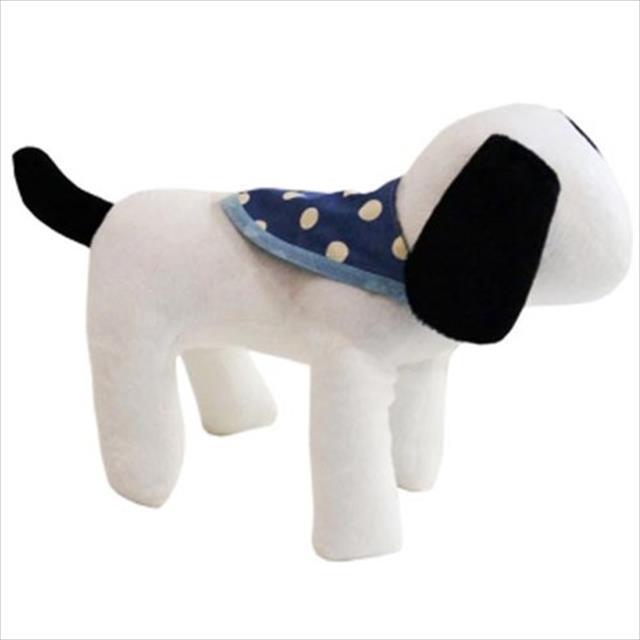 bandana futon dog dupla face poa azul - tam m