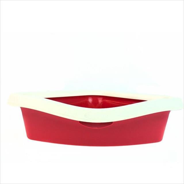 bandeja higiênica american pets para gatos corner - vermelho