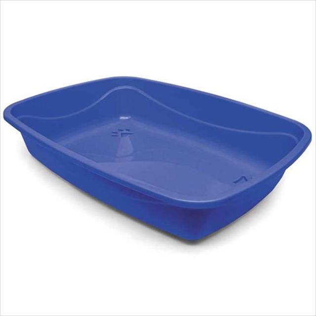 bandeja higiênica pet injet luxo patas sanicats - azul