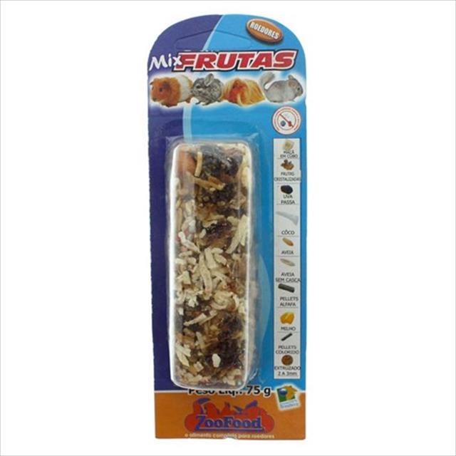 bastão mix frutas para roedores - 75gr
