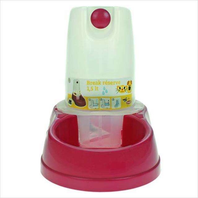 bebedouro automático chalesco - rosa bebedouro automático chalesco rosa - 1,5 litros