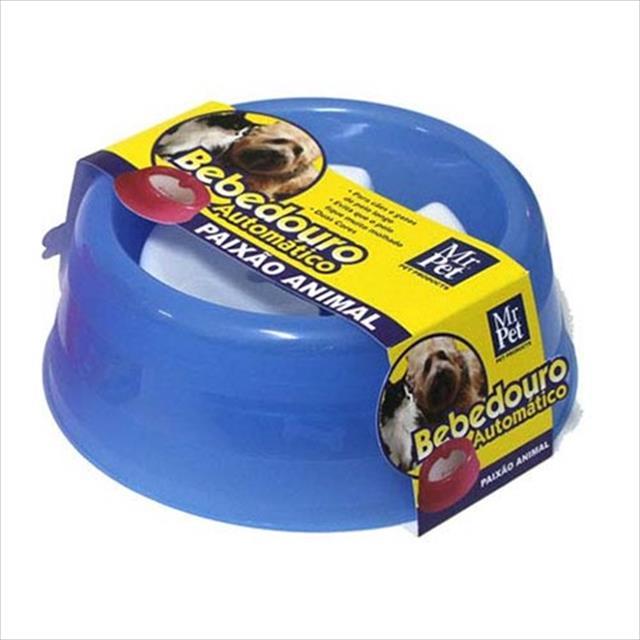 bebedouro mr pet automático para cães e gatos de 1000ml - azul