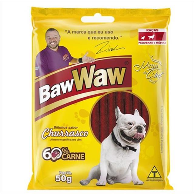 bifinho baw waw churrasco para cães de porte pequeno - 50 g