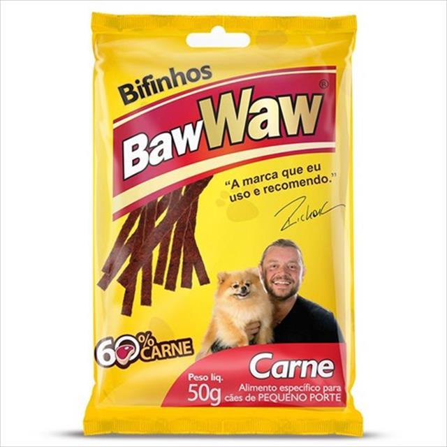 bifinho baw waw de carne para cães de porte pequeno - 50 g