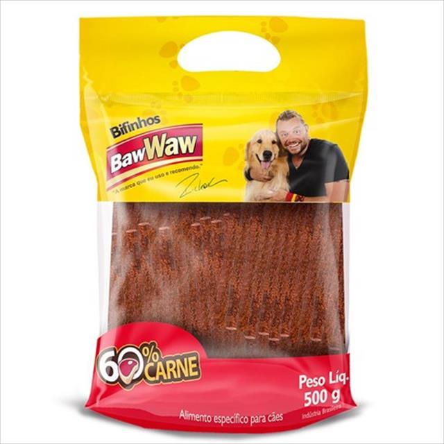 bifinho baw waw de carne para cães de porte pequeno - 500 g