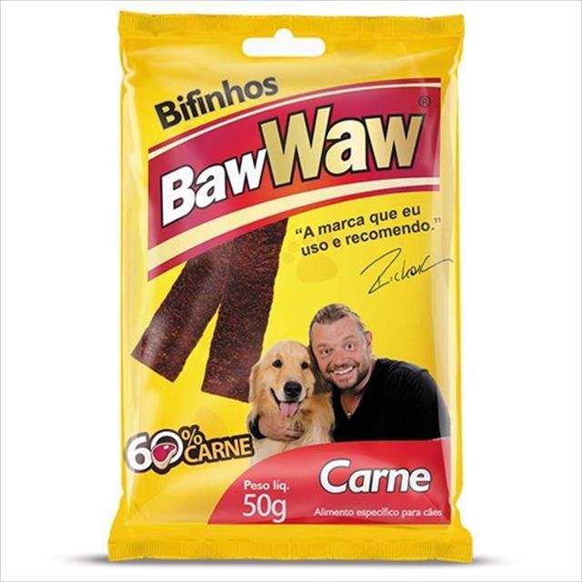 bifinho baw waw de carne para raças grandes e gigantes - 500 g