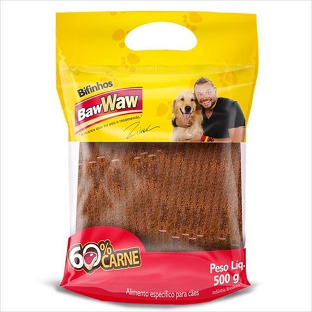 bifinho baw waw de frango para cães de porte pequeno - 500 g