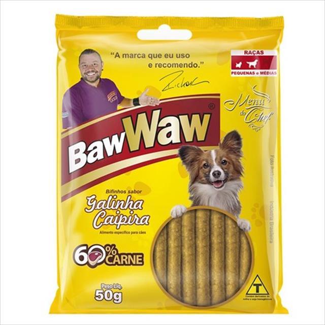 bifinho baw waw galinha caipira para cães de raças pequenas - 50 g