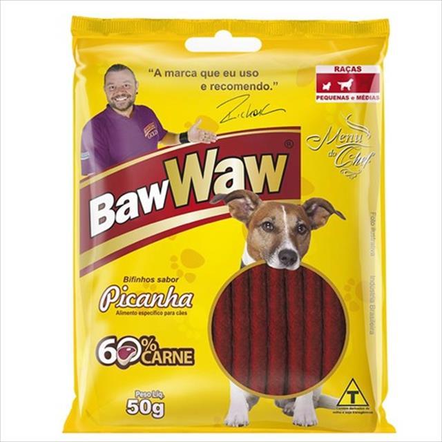 bifinho baw waw picanha para cães de porte pequeno - 50 g