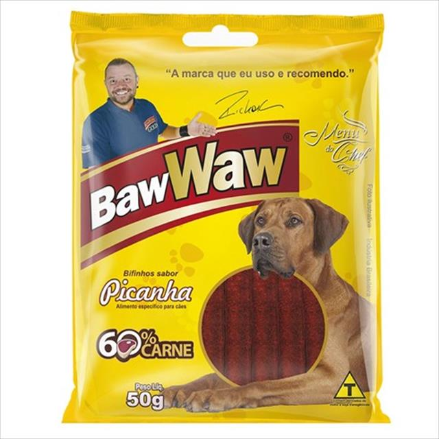 bifinho baw waw sabor picanha para cães adultos - 50 g