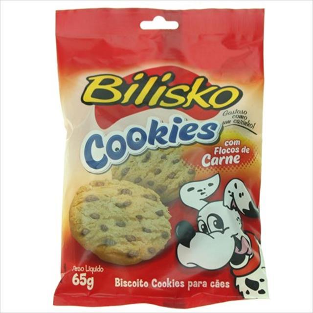 bilisko cookie para cães com flocos de carne - 65gr