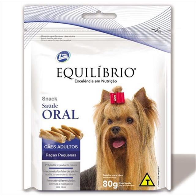 biscoito total equilíbrio snack saúde oral para cães de raças pequenas - 80 g
