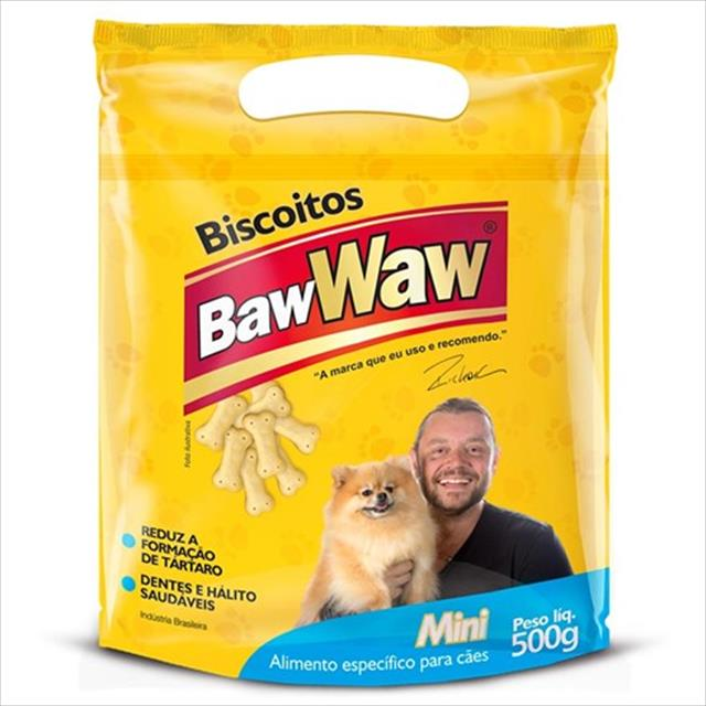 biscoitos baw waw mini para cães - 500 g