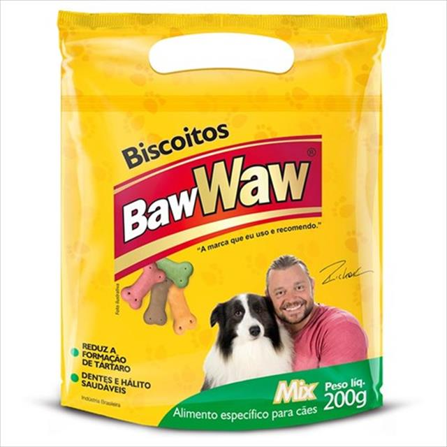 biscoitos baw waw mix para cães - 200 g