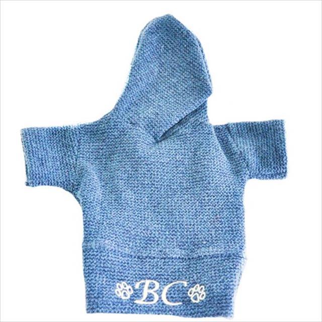 blusão bichinho chic capuz azul - tam. 04