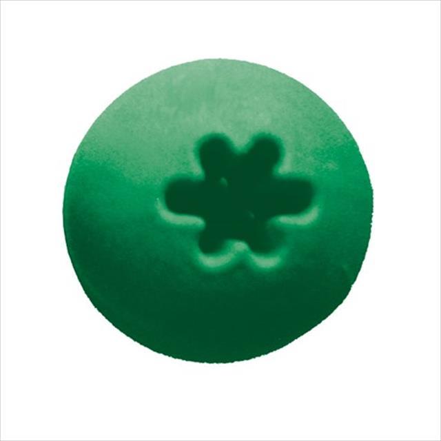bola maciça adestramento furacão pet - verde bola maciça adestramento verde furacão pet - 75mm