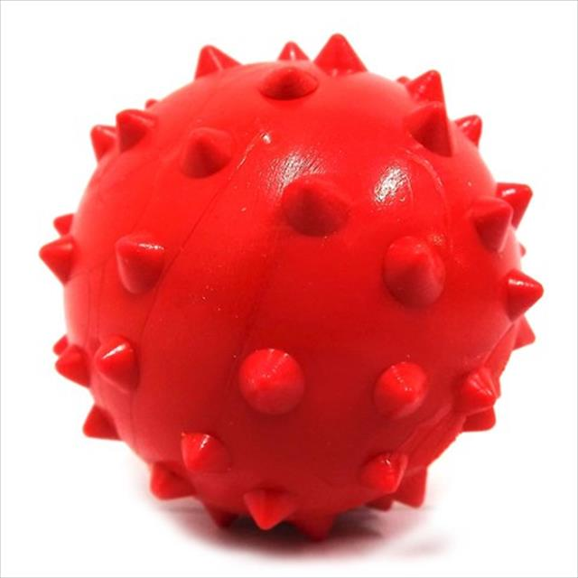 bola maciça cravo furacão pet - vermelho bola maciça dogão cravo vermelho furacão pet - 80mm