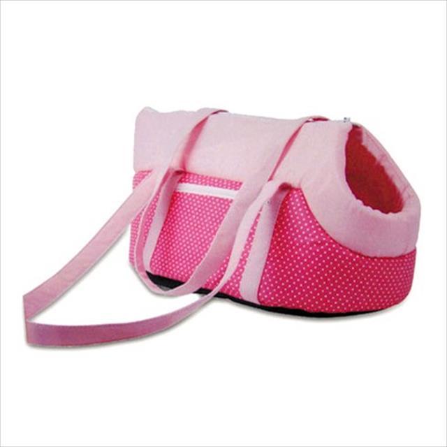 bolsa de transporte chalesco puppy - rosa