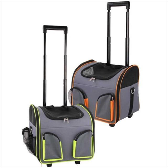 bolsa de transporte pawise com rodas - laranja