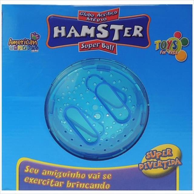 brinquedo american pets globo para exercício de hamster - médio brinquedo american pets globo para exercício de hamster médio - azul