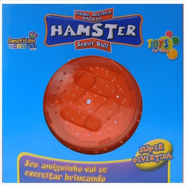 brinquedo american pets globo para exercício de hamster - médio brinquedo american pets globo para exercício de hamster médio - vermelho