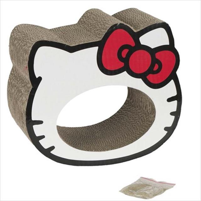 brinquedo arranhador hello kitty - branco