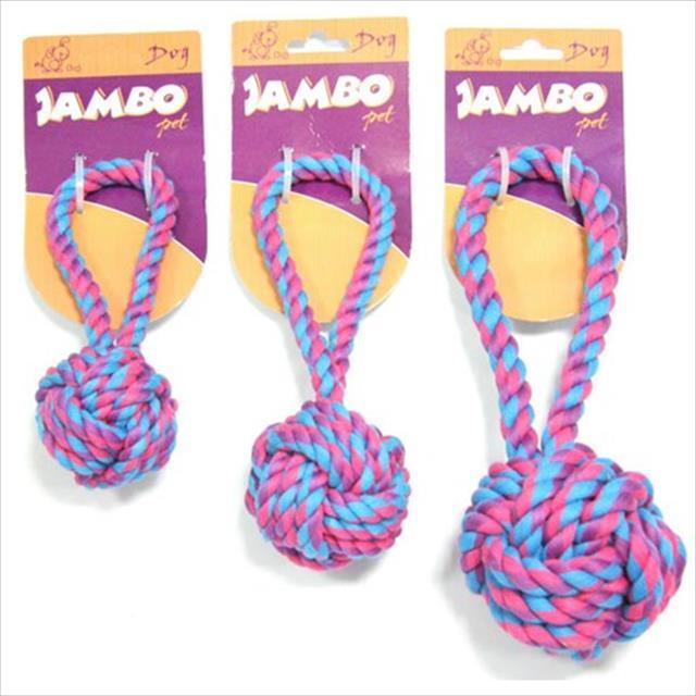 brinquedo bola de corda com alça - pequeno