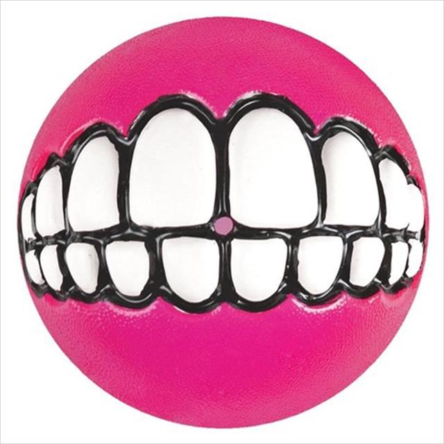 brinquedo bola rogz sorriso grinz - rosa brinquedo bola rogz sorriso grinz rosa - grande