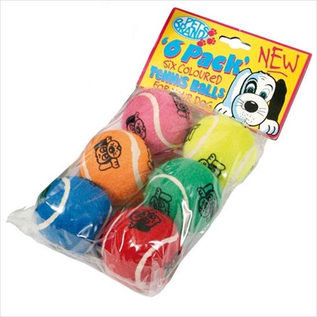 brinquedo bolas de tênis coloridas - pacote com 6 unidades