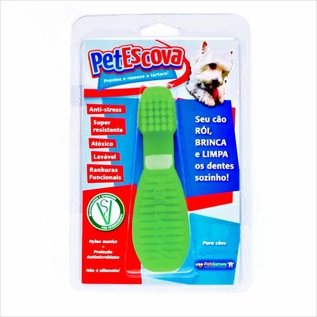 brinquedo escova pet games - verde brinquedo escova pet games verde - tam. g