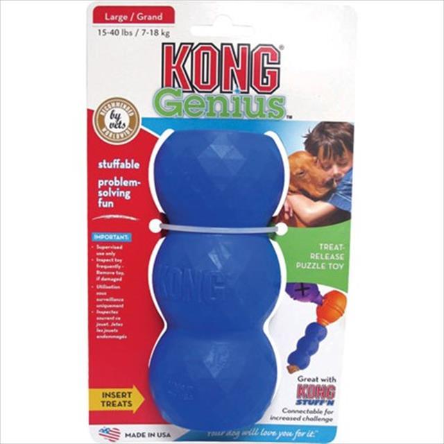 brinquedo interativo kong genius mike com dispenser para ração ou petisco - azul brinquedo interativo kong genius mike gm3 com dispenser para ração ou petisco azul - pequeno