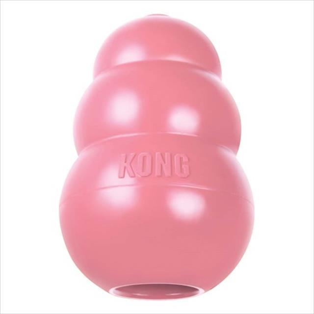 brinquedo interativo kong puppy com dispenser de ração ou petisco para filhotes - rosa brinquedo interativo kong puppy kp3 com dispenser de ração ou petisco para filhotes - pequeno